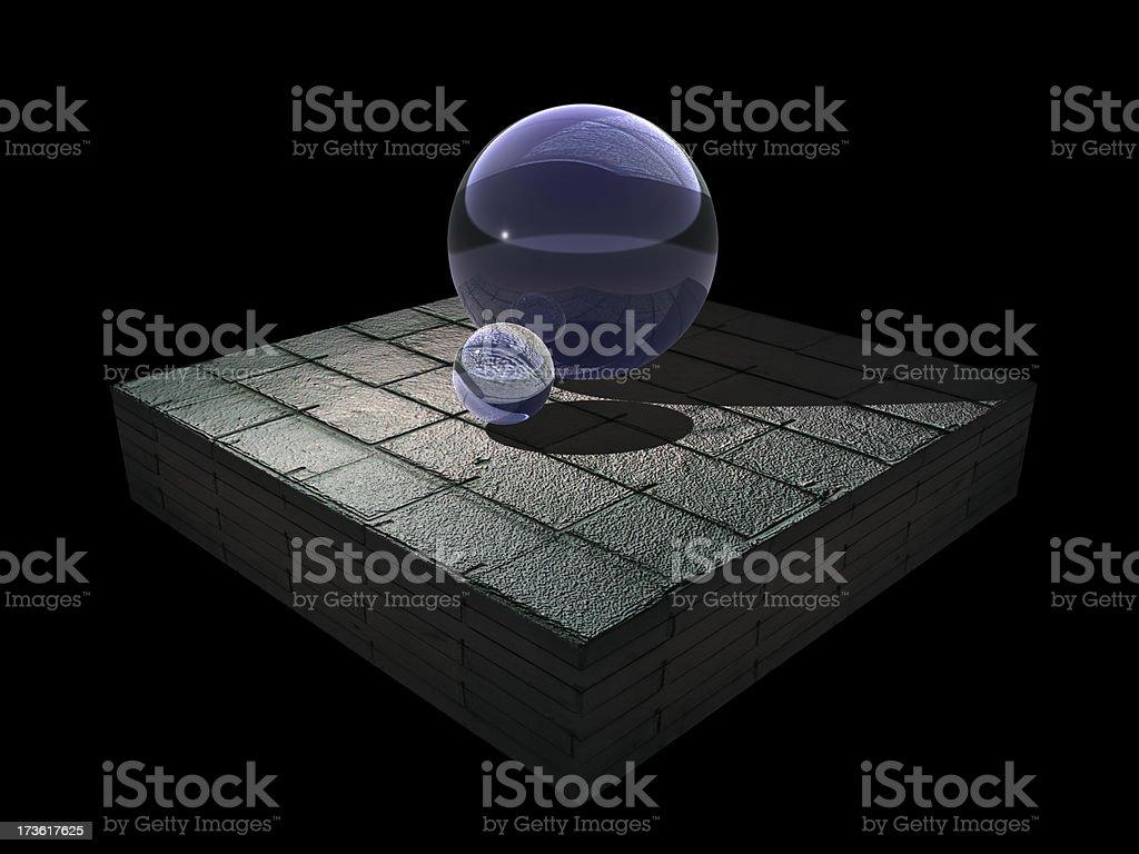 glass render stock photo