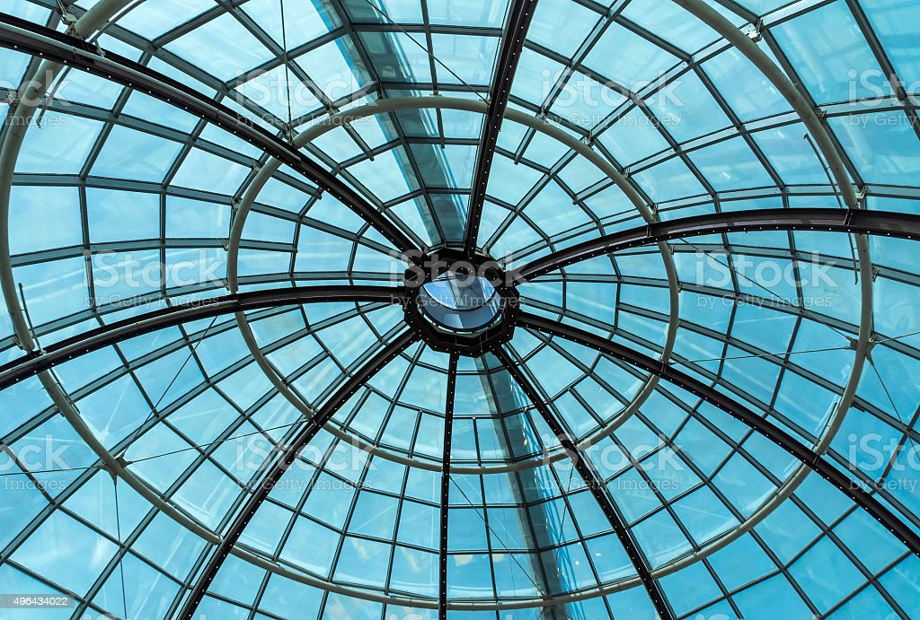 Glass roof dome stock photo