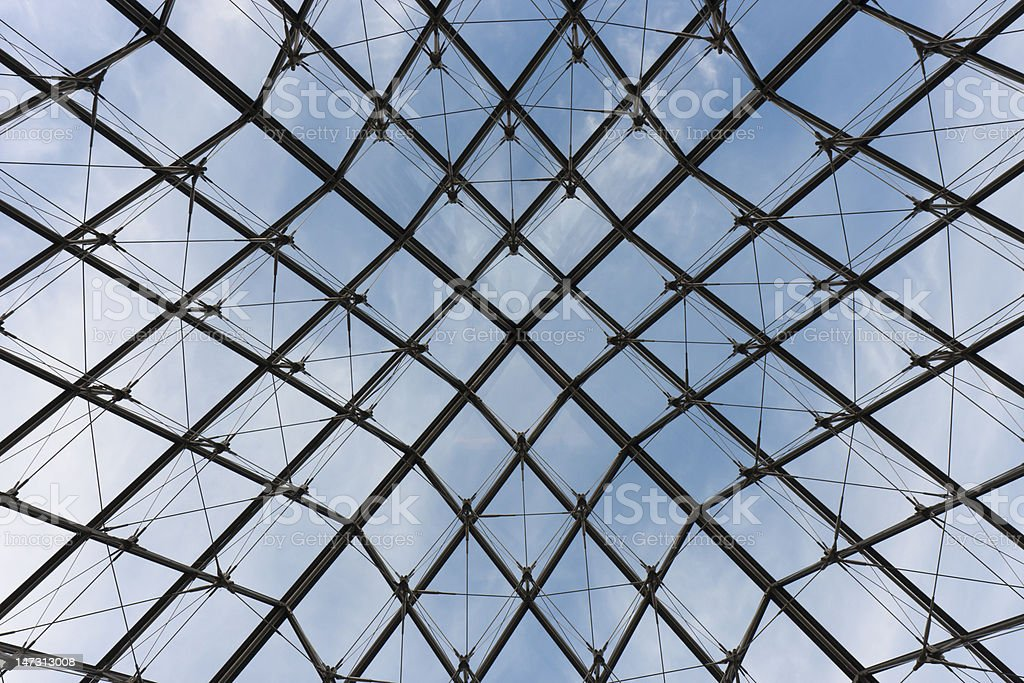 glass roof royalty-free stock photo