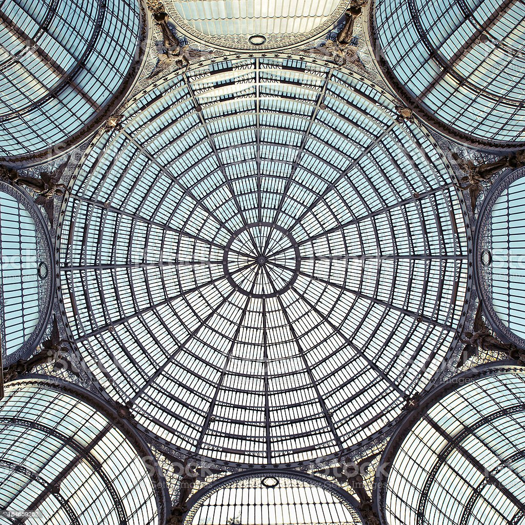 Glass roof. royalty-free stock photo