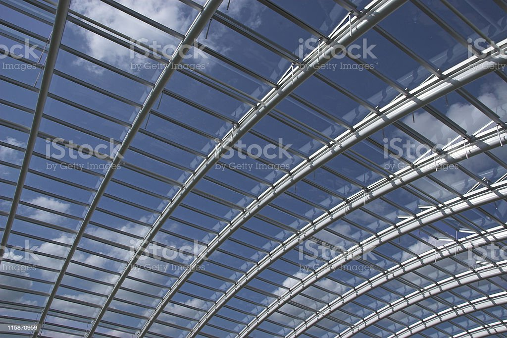 Glass roof span royalty-free stock photo