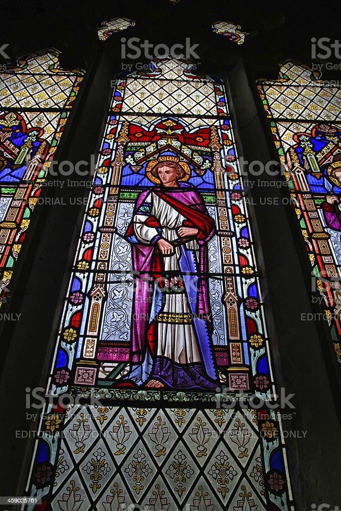 Glass Saint royalty-free stock photo