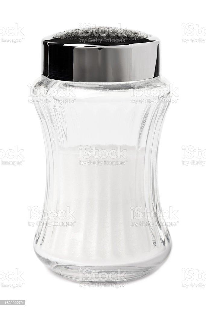 Glass saltshaker stock photo