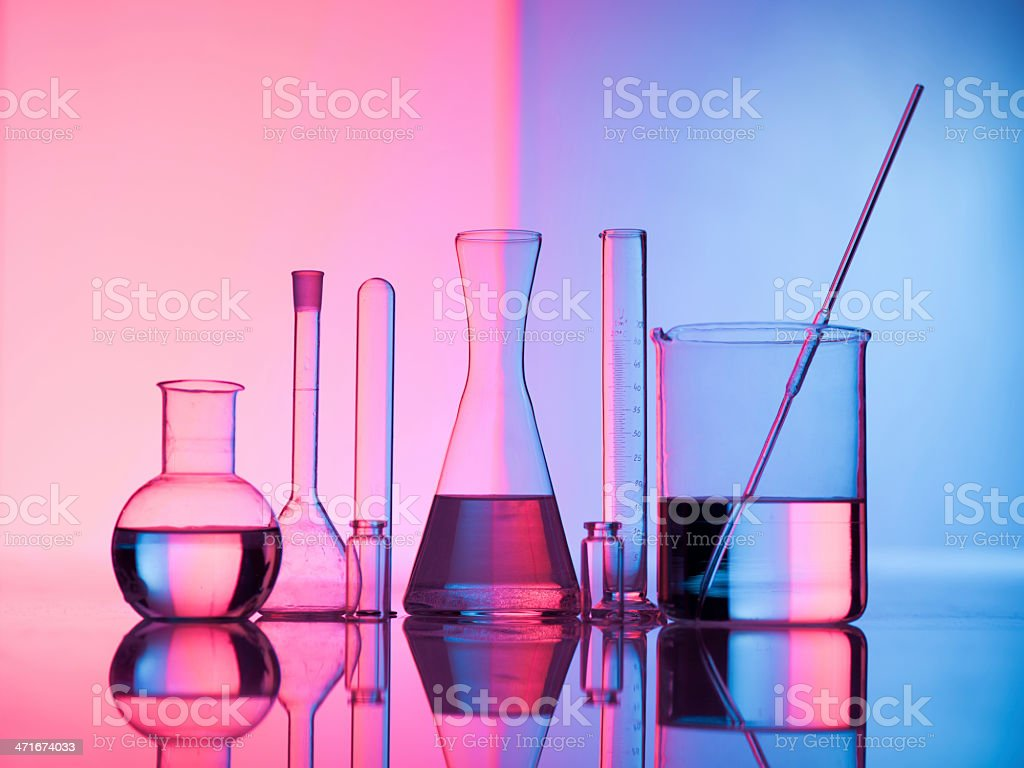 Glass science stock photo
