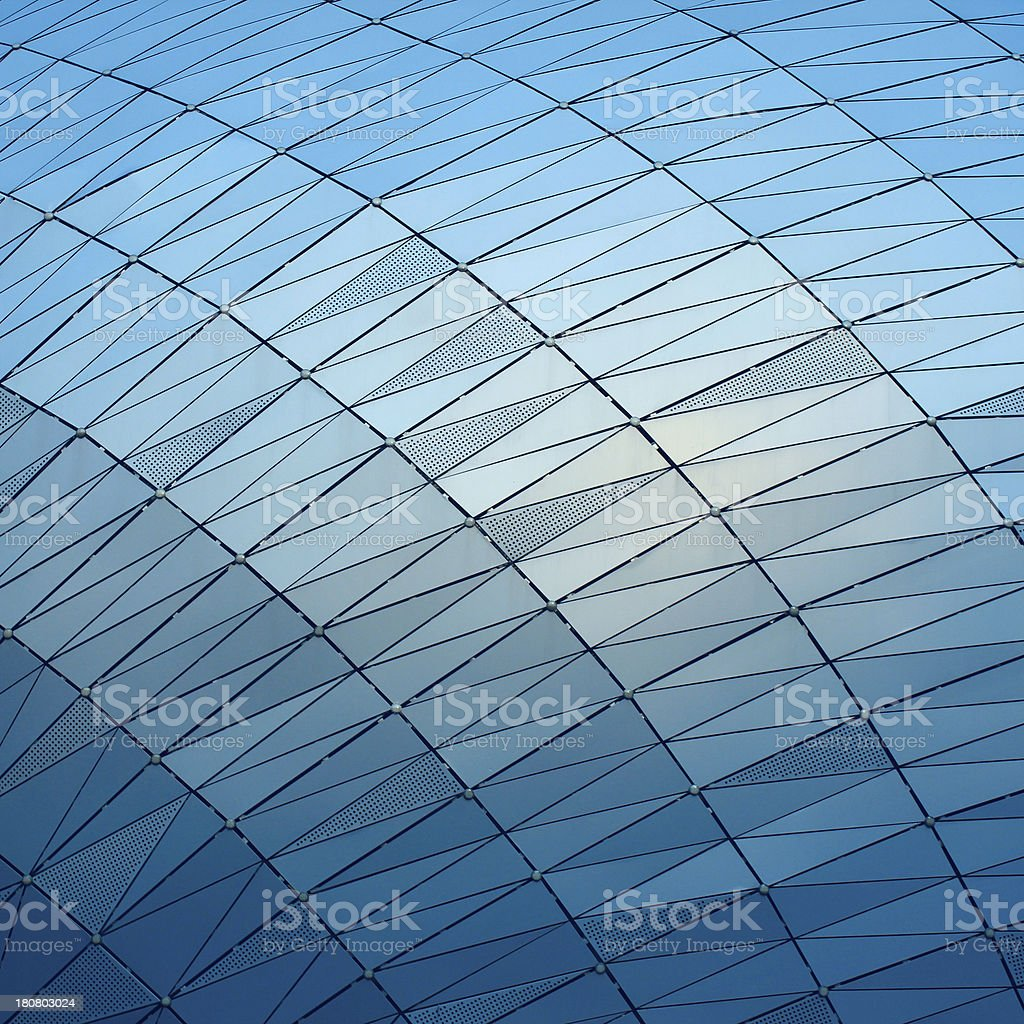 Glass screen wall royalty-free stock photo