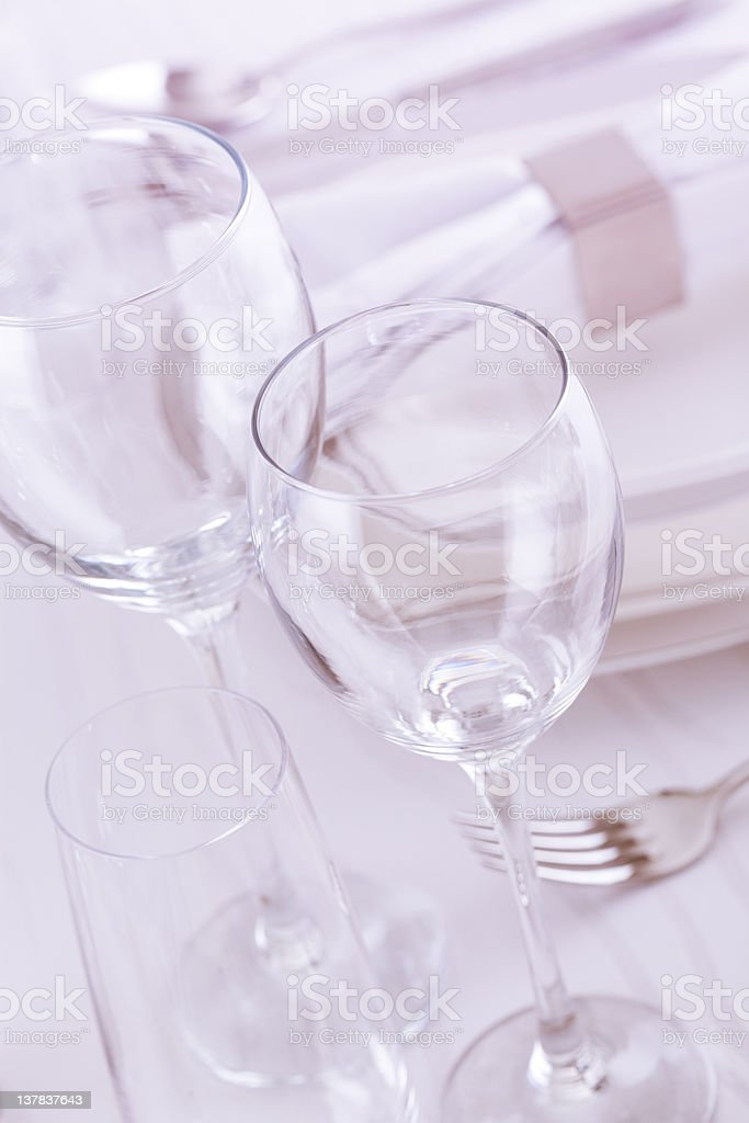 Glass Series for table setting royalty-free stock photo