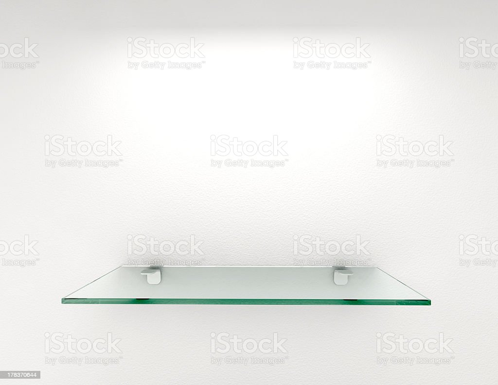 glass shelf royalty-free stock photo