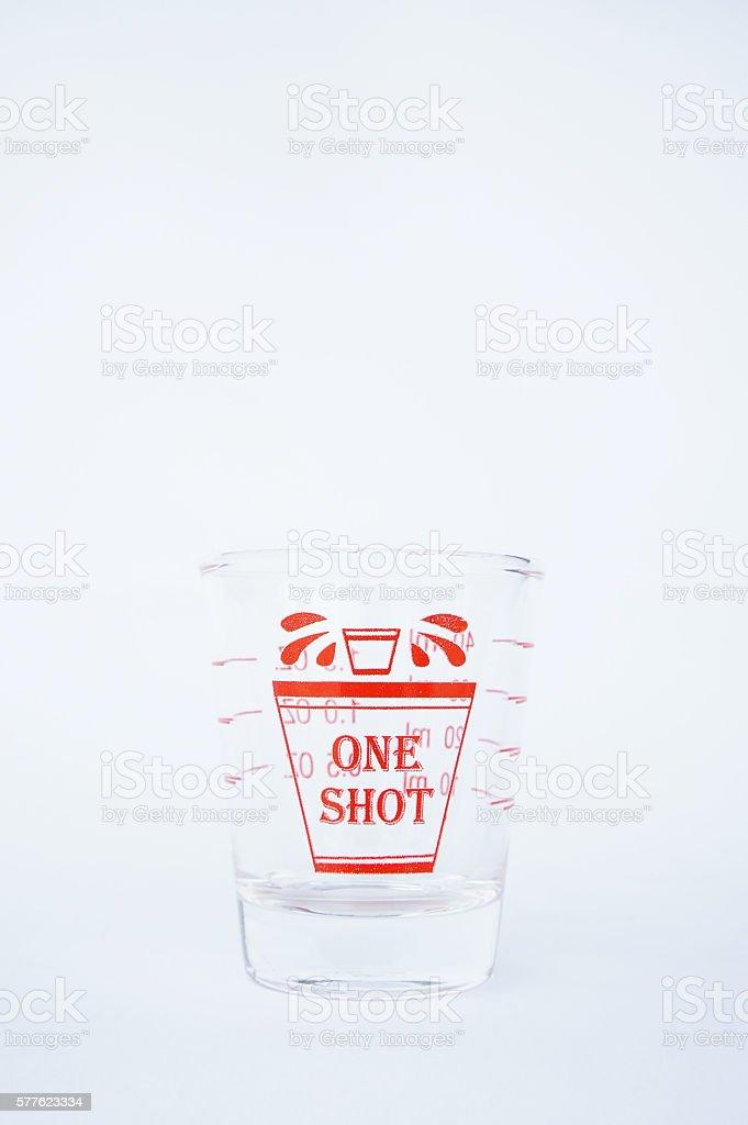 Glass shot stock photo