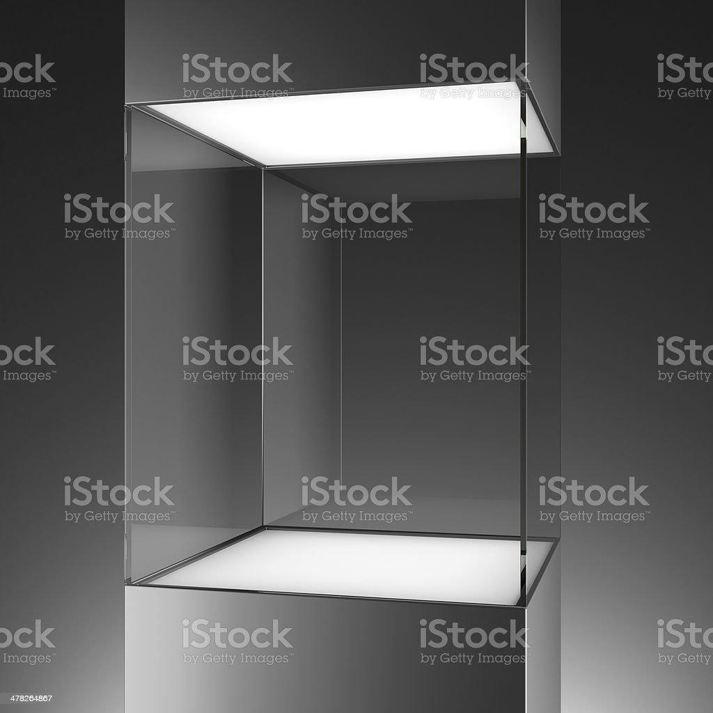 glass showcase stock photo