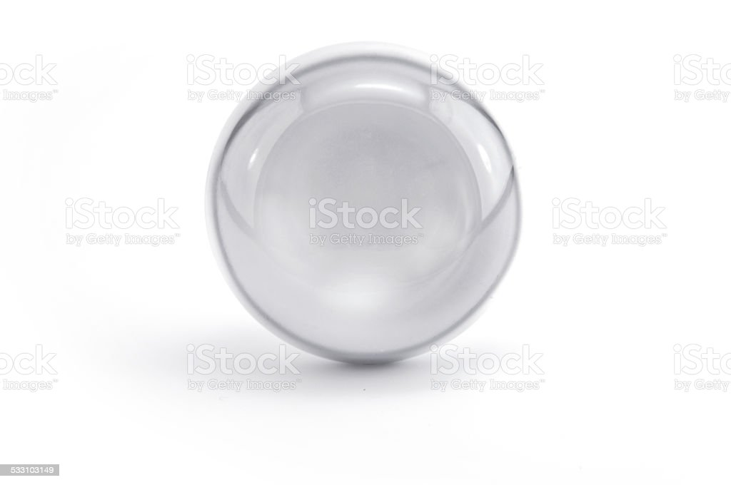 glass silver sphere stock photo
