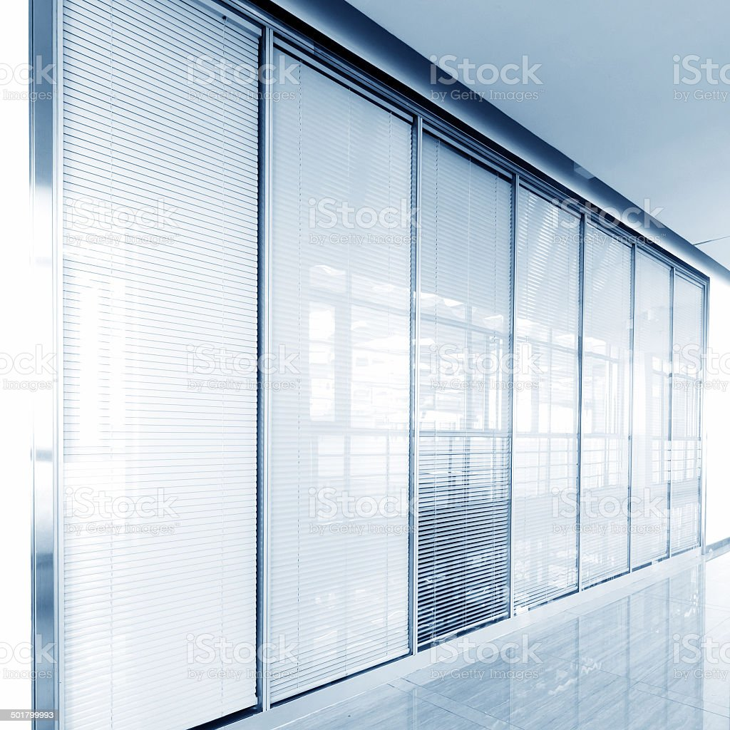 Glass sliding doors stock photo