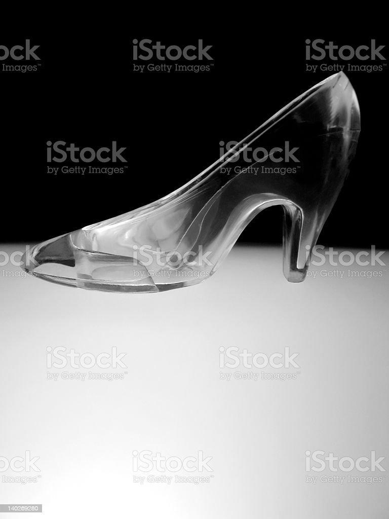 Glass Slipper royalty-free stock photo