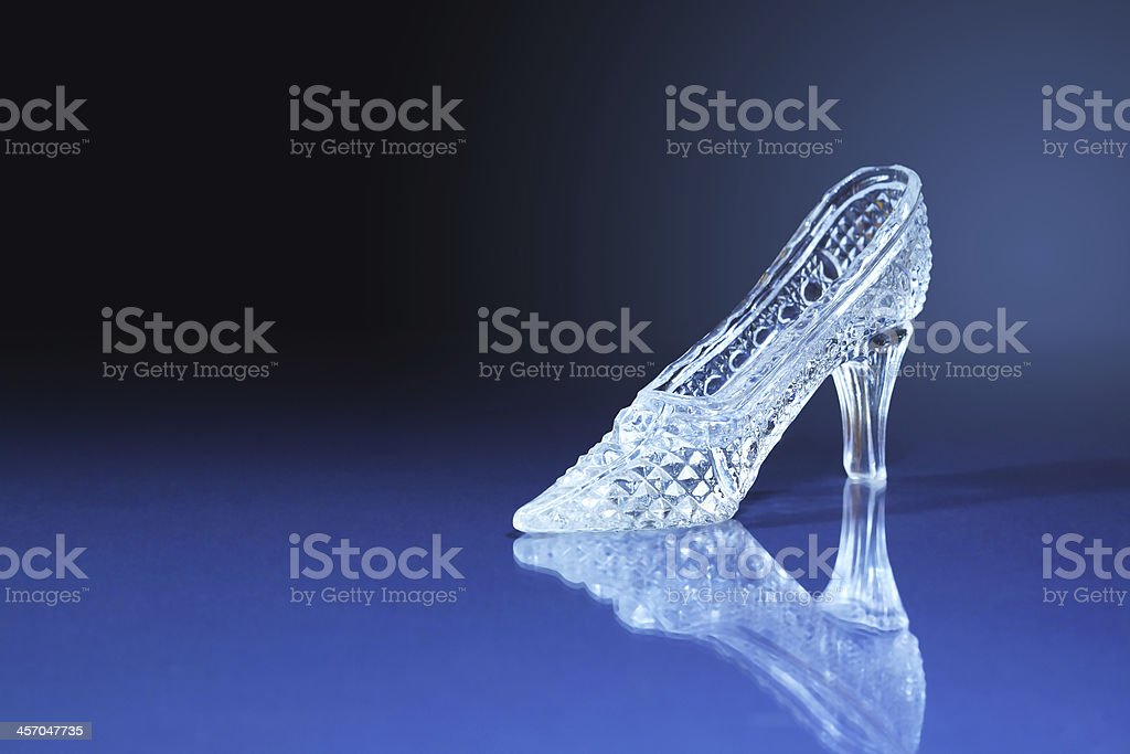 Glass Slipper stock photo