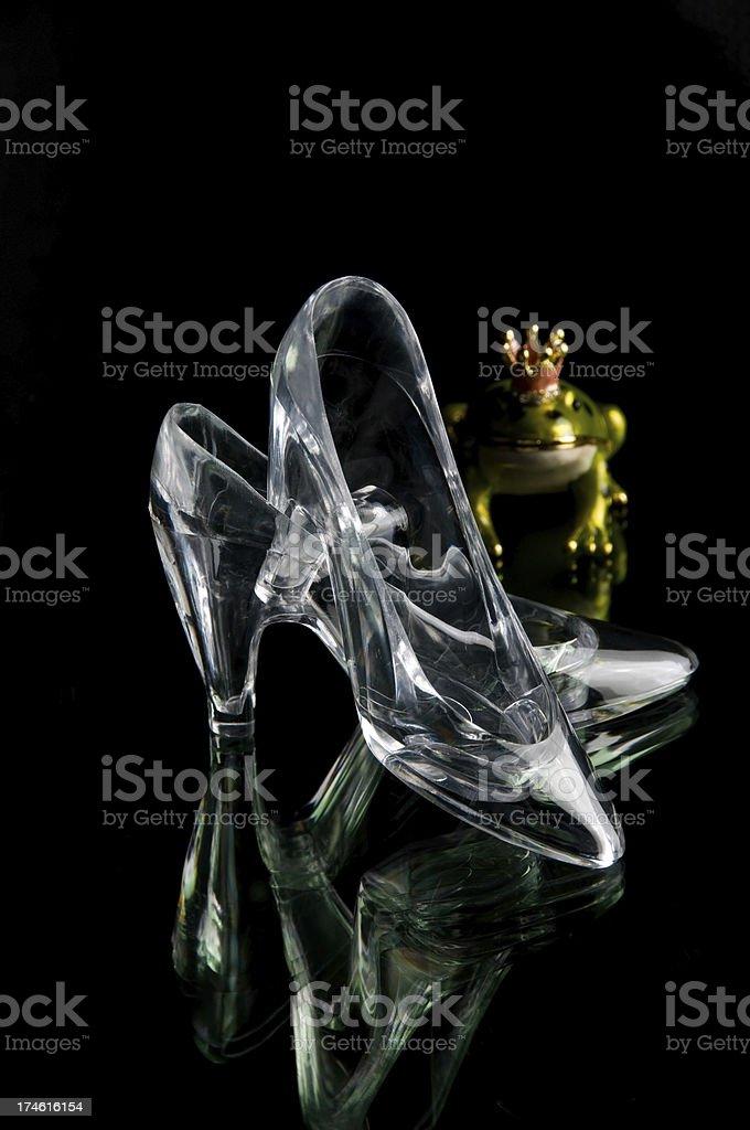 Glass Slipper Prince Frog stock photo