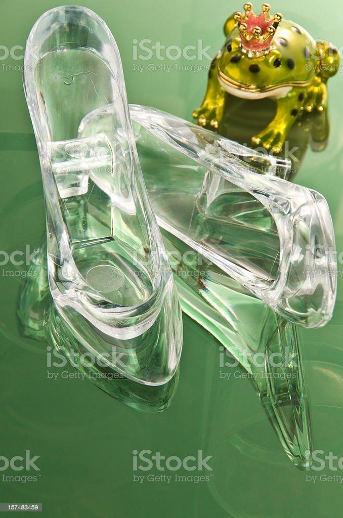Glass Slipper Tumble stock photo