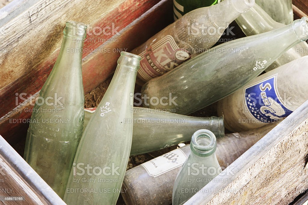 Glass Soda Bottles Vintage Beverages stock photo