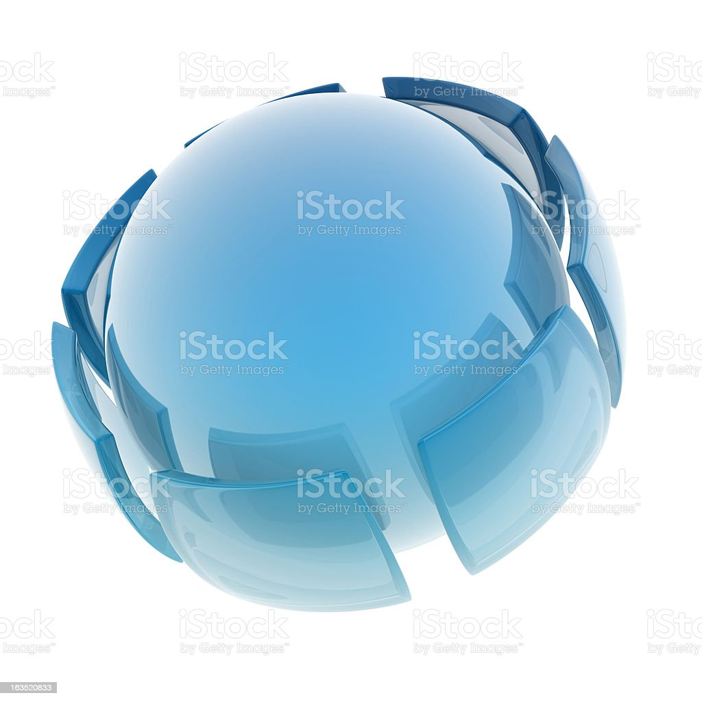 glass sphere stock photo