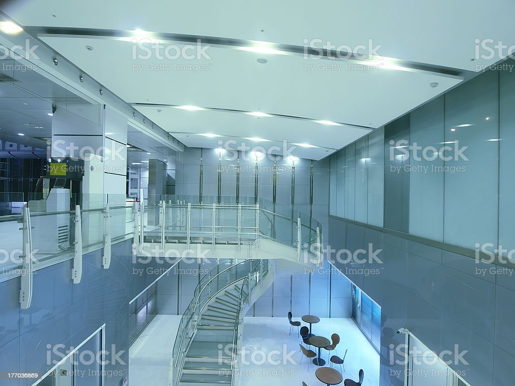 Glass stair royalty-free stock photo
