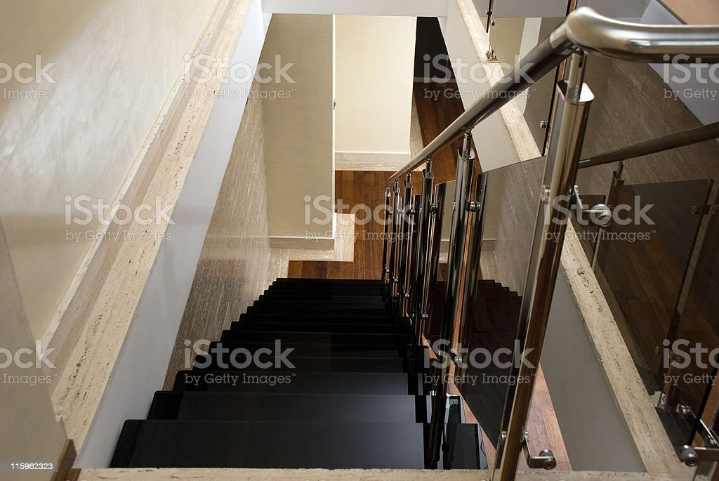 Glass staircase royalty-free stock photo