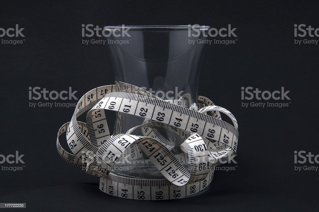 glass surrounded by measurement royalty-free stock photo
