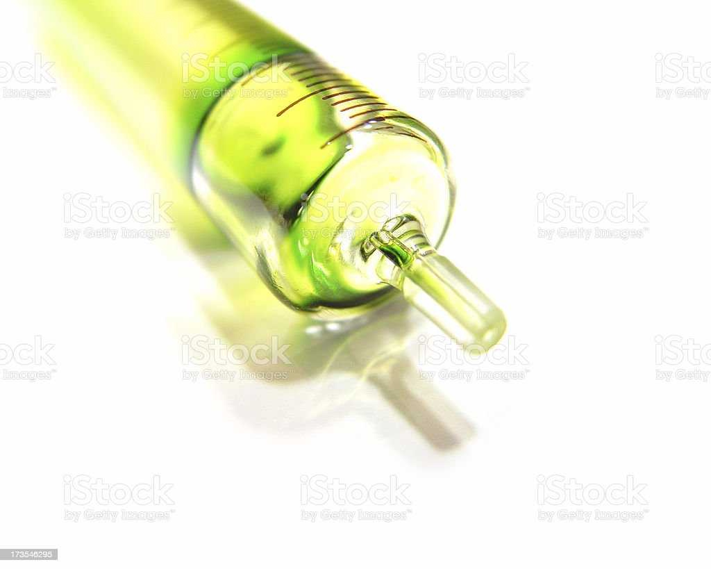 Glass Syringe royalty-free stock photo