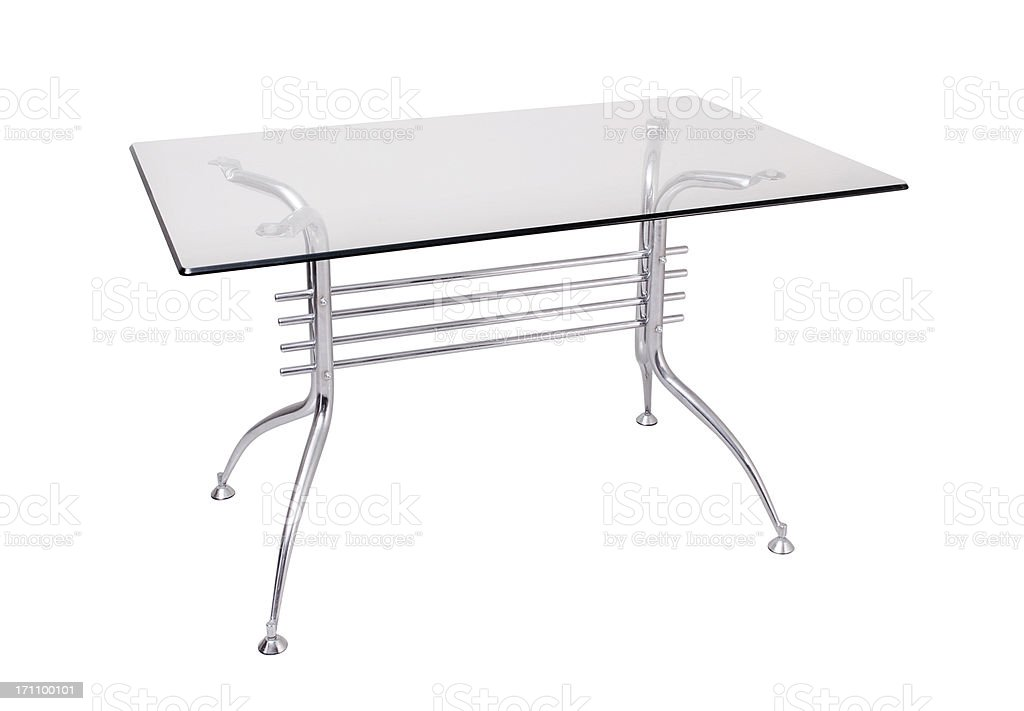Glass Table +Clipping Path stock photo