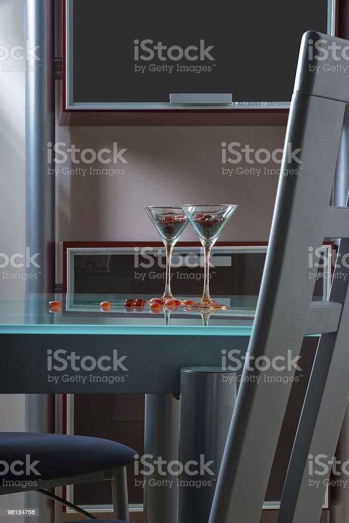 glass table in kitchen royalty-free stock photo