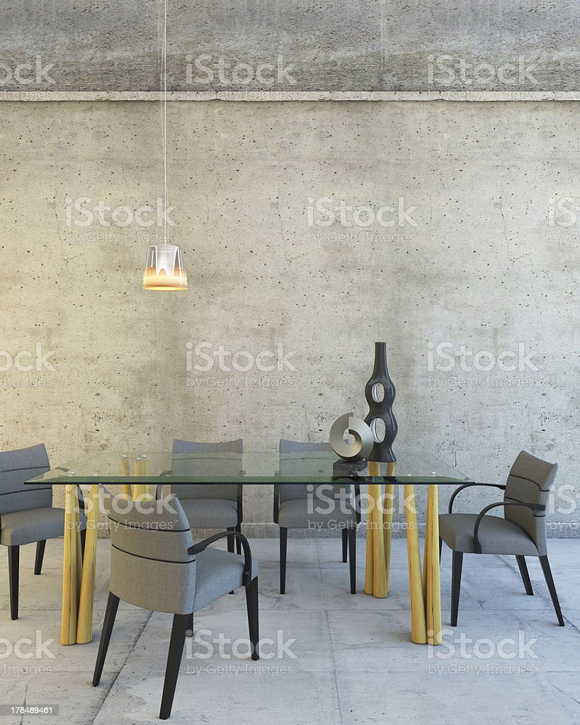 Glass Table In Room royalty-free stock photo