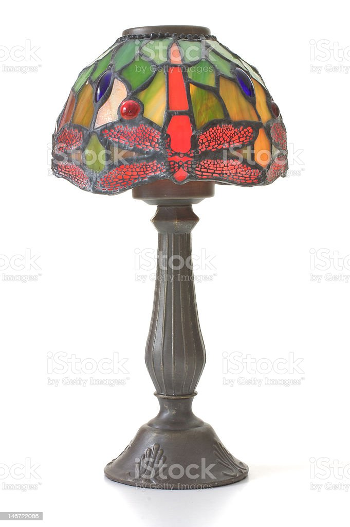 Glass Table Lamp stock photo
