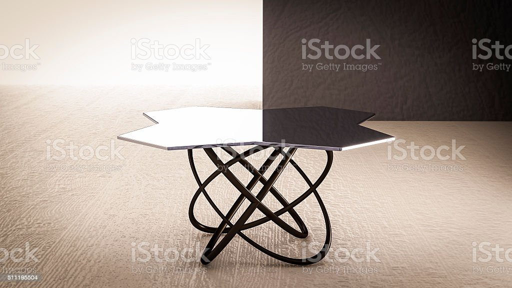 glass table Office stock photo