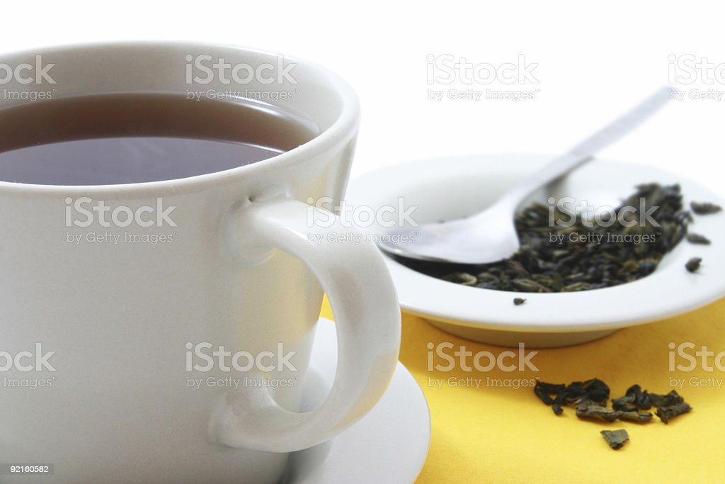 Glass tea cup royalty-free stock photo
