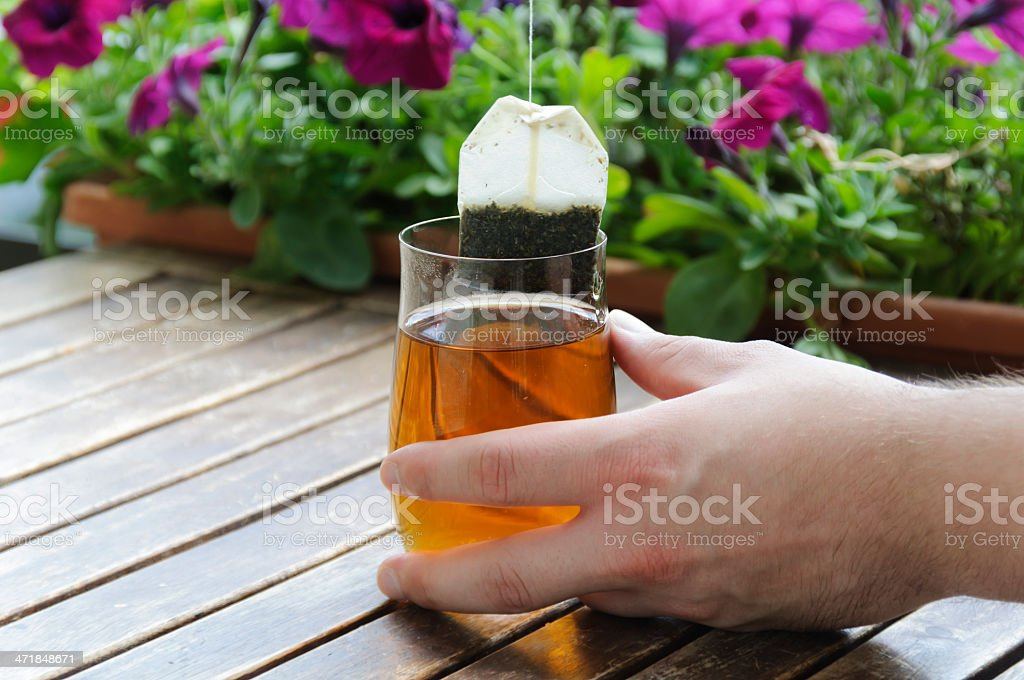 Glass tea royalty-free stock photo