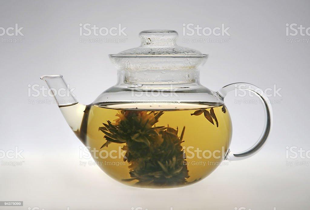 Glass teapot royalty-free stock photo
