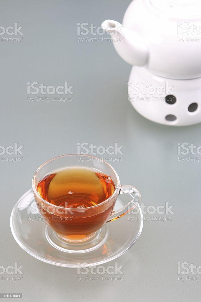 Glass Tee and Teapot stock photo