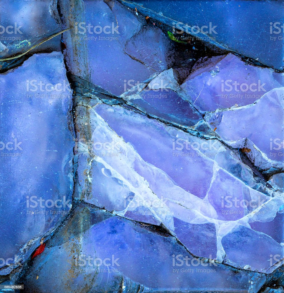 Glass Tile Cracked stock photo