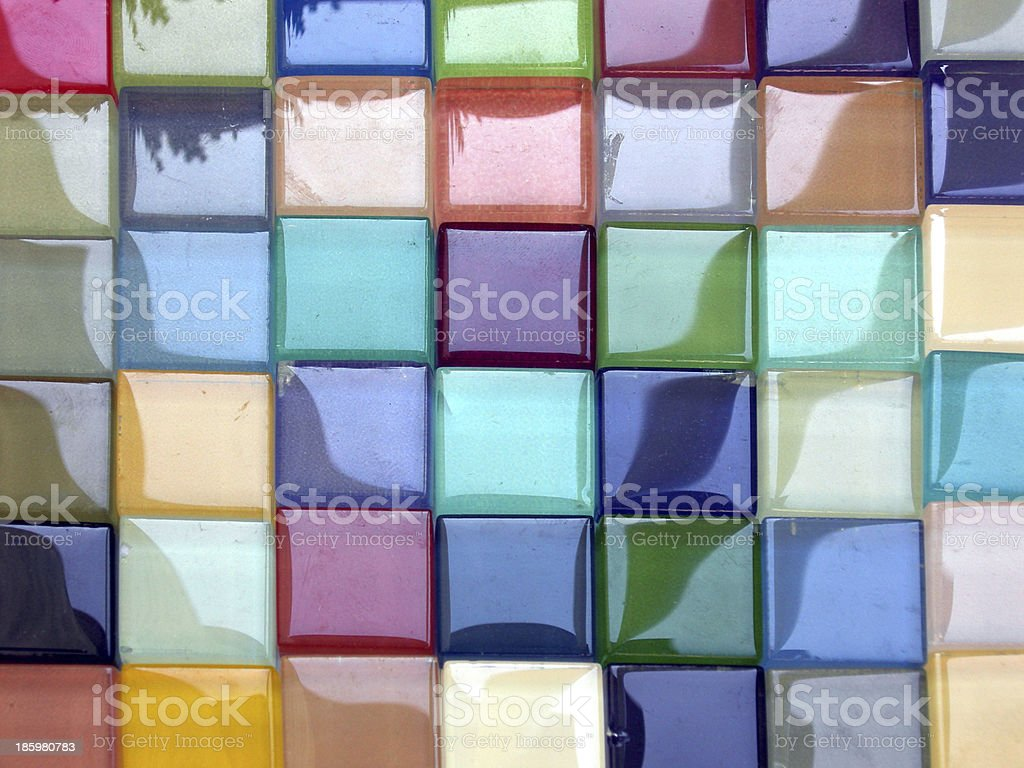 Glass tiles stock photo