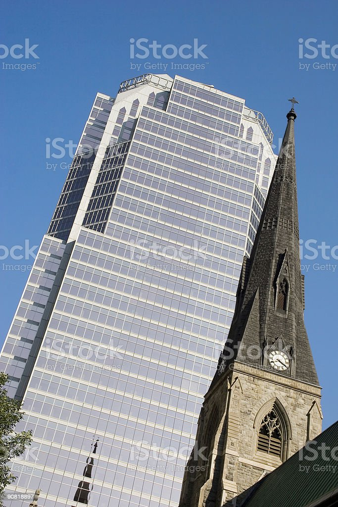 Glass tower, church steeple royalty-free stock photo