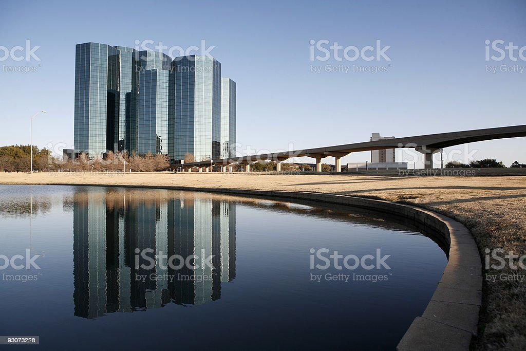 Glass Towers Irving stock photo