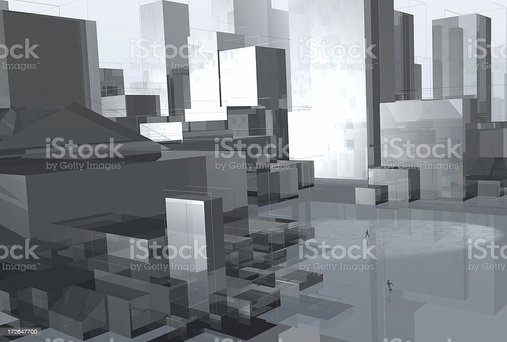 Glass Town royalty-free stock photo