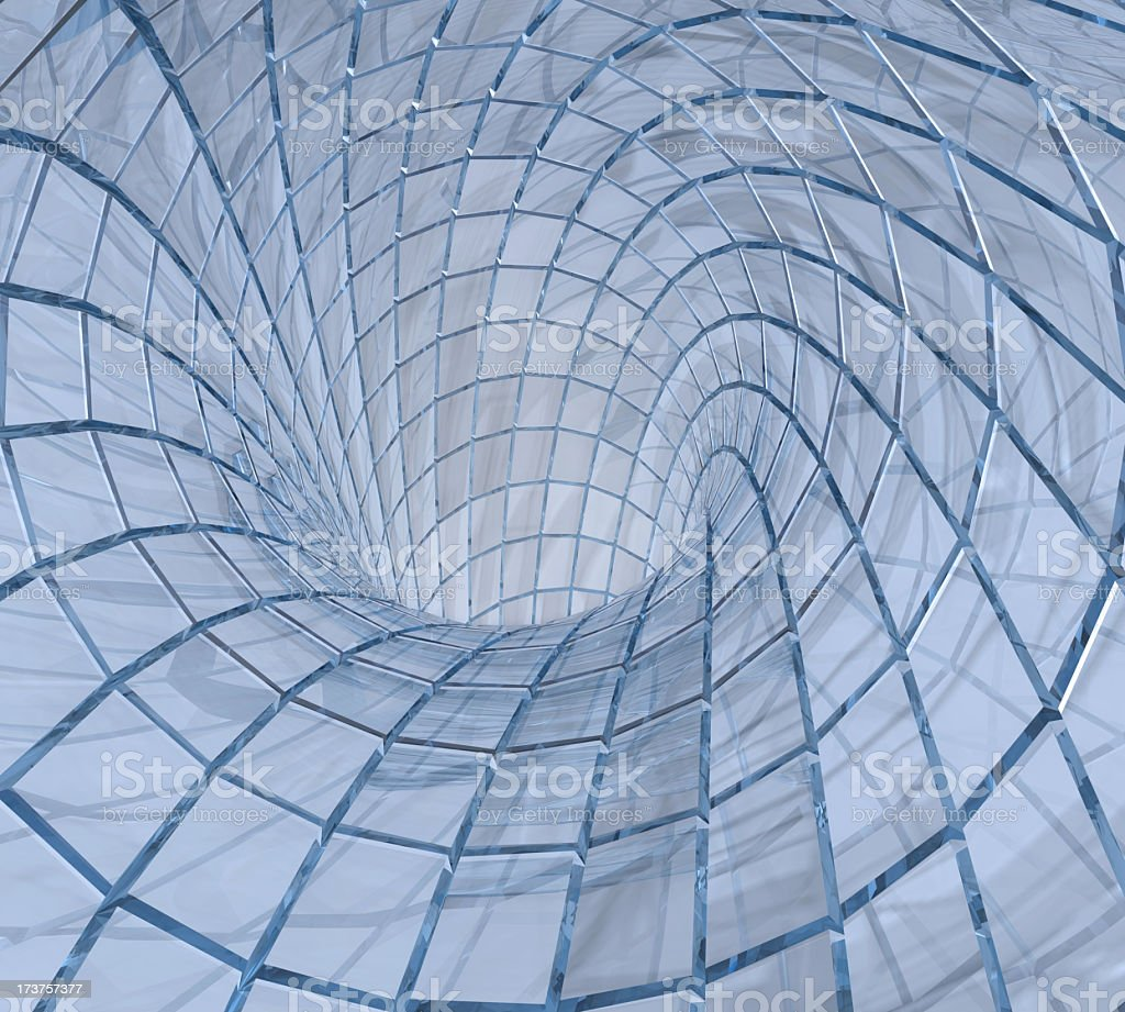 Glass  Tunnel royalty-free stock photo