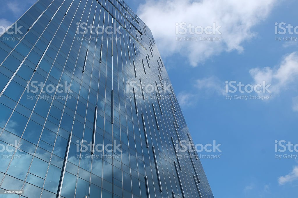 Glass type building with sky royalty-free stock photo