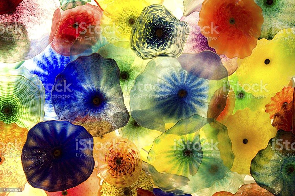 Glass umbrellas royalty-free stock photo