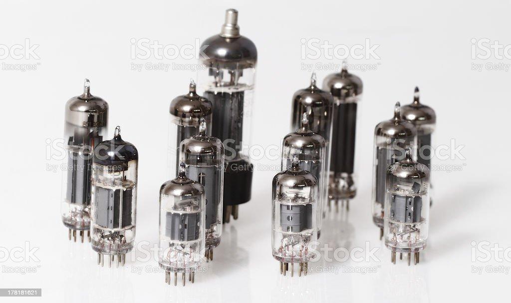 Glass vacuum radio tubes royalty-free stock photo