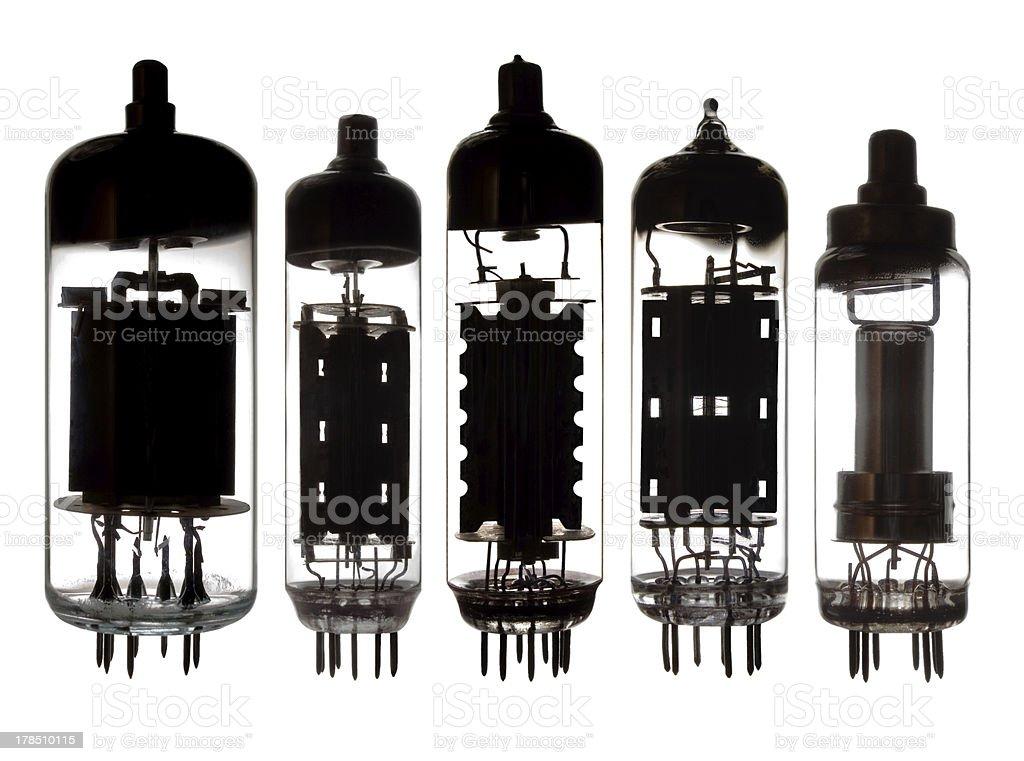 Glass vacuum radio tubes. royalty-free stock photo