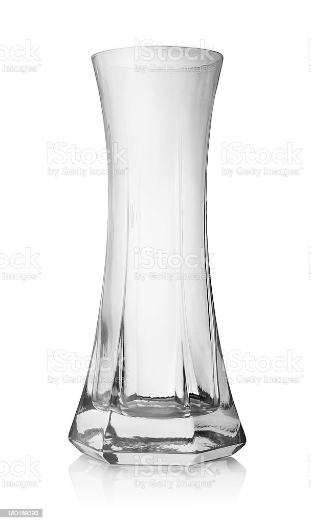 Glass vase stock photo