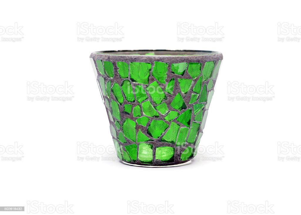 Glass Votive Candle Holder stock photo