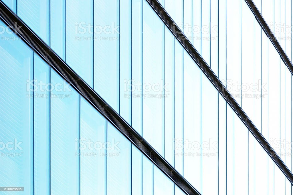 Glass wall, abstract background with copy space stock photo