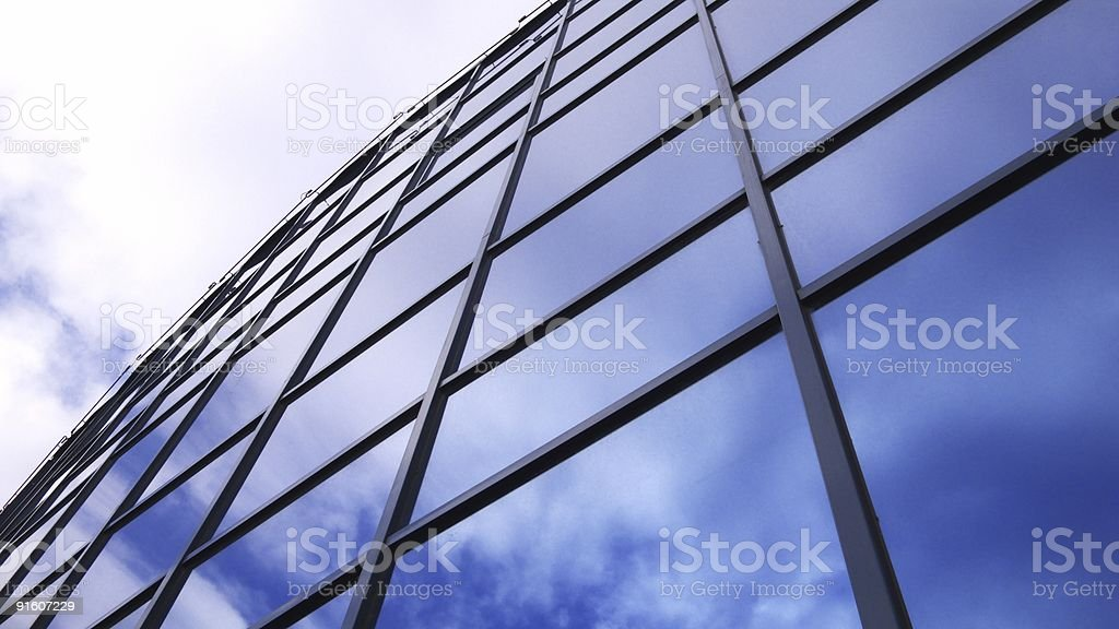 Glass wall of the house royalty-free stock photo