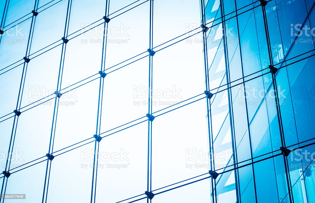 Glass wall stock photo