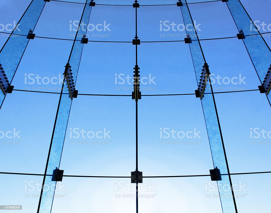 Glass wall structure royalty-free stock photo